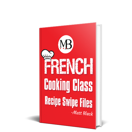 menu recipe swipe files - French Cooking Class